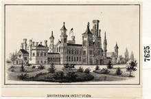 Smithsonian Castle, 1850s