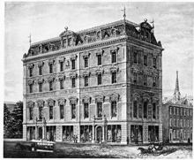 Masonic Temple, drawing from 1866